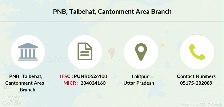 Punjab-national-bank Talbehat-cantonment-area branch