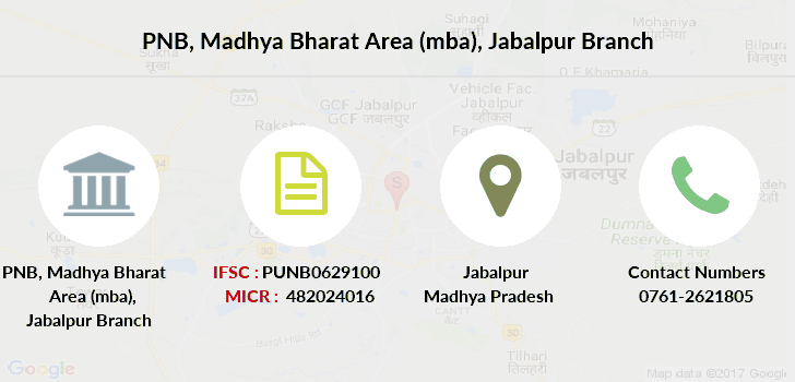 Punjab-national-bank Madhya-bharat-area-mba-jabalpur branch