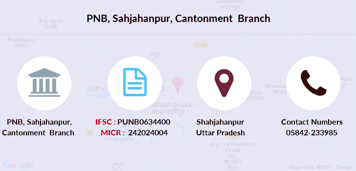 Punjab-national-bank Sahjahanpur-cantonment branch