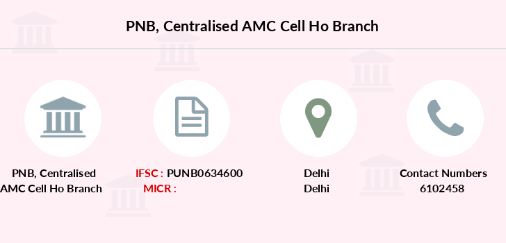 Punjab-national-bank Centralised-amc-cell-ho branch