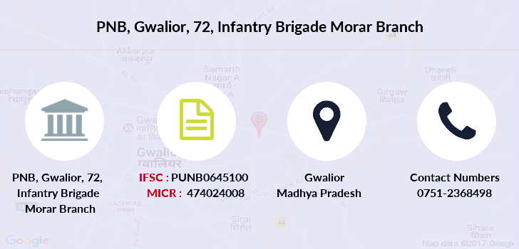 Punjab-national-bank Gwalior-72-infantry-brigade-morar branch