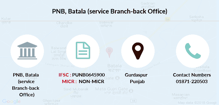 Punjab-national-bank Batala-service-branch-back-office branch
