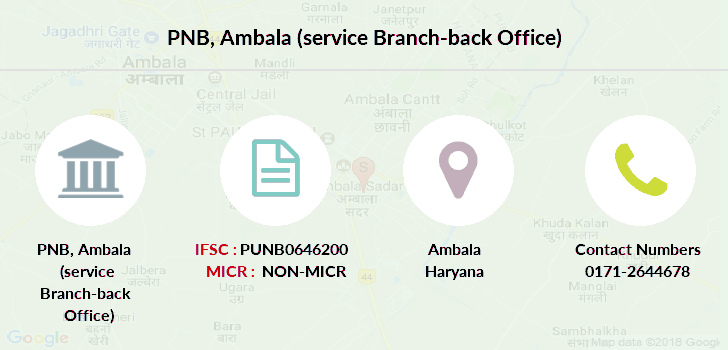 Punjab-national-bank Ambala-service-branch-back-office branch