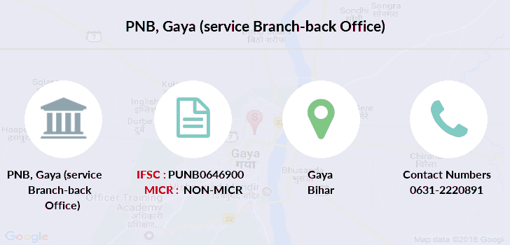 Punjab-national-bank Gaya-service-branch-back-office branch