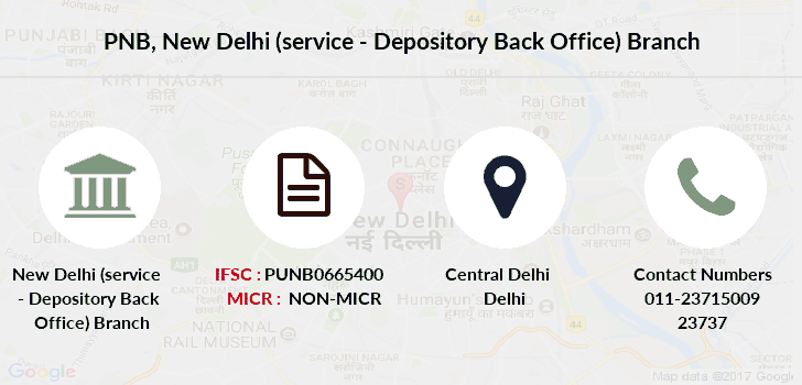 Punjab-national-bank New-delhi-service-depository-back-office branch