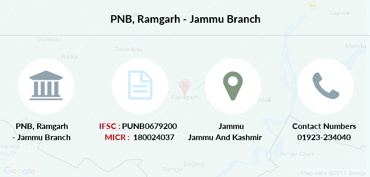 Punjab-national-bank Ramgarh-jammu branch