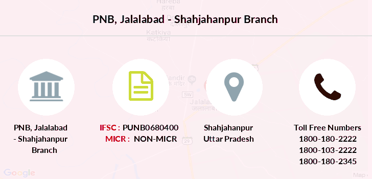 Punjab-national-bank Jalalabad-shahjahanpur branch
