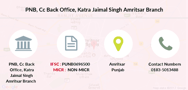 Punjab-national-bank Cc-back-office-katra-jaimal-singh-amritsar branch