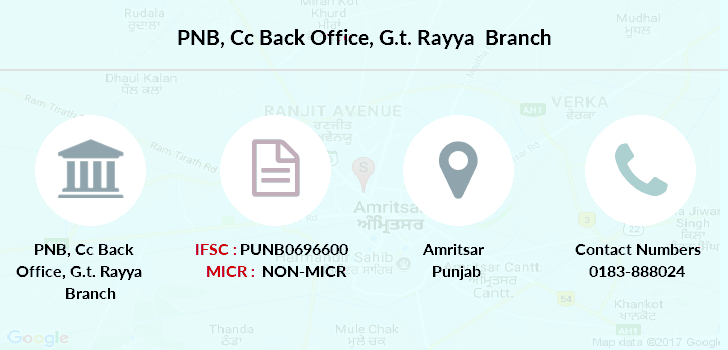 Punjab-national-bank Cc-back-office-g-t-rayya branch