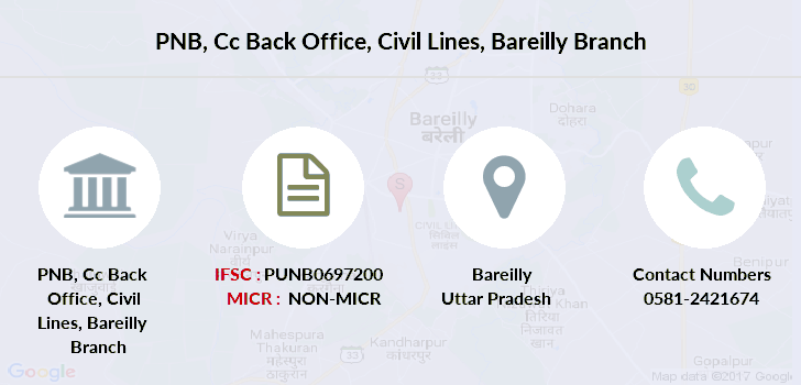 Punjab-national-bank Cc-back-office-civil-lines-bareilly branch