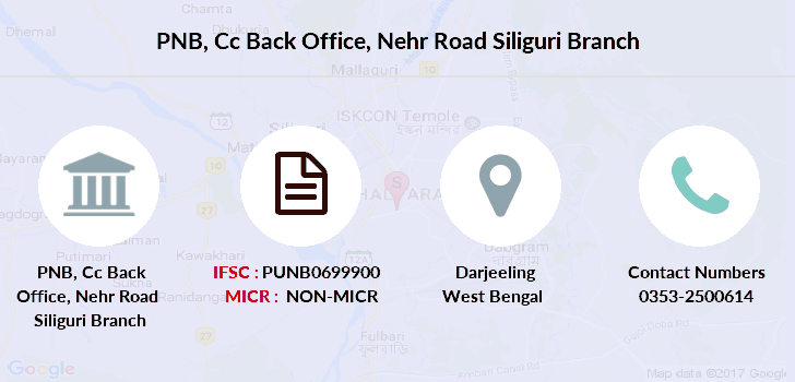 Punjab-national-bank Cc-back-office-nehr-road-siliguri branch