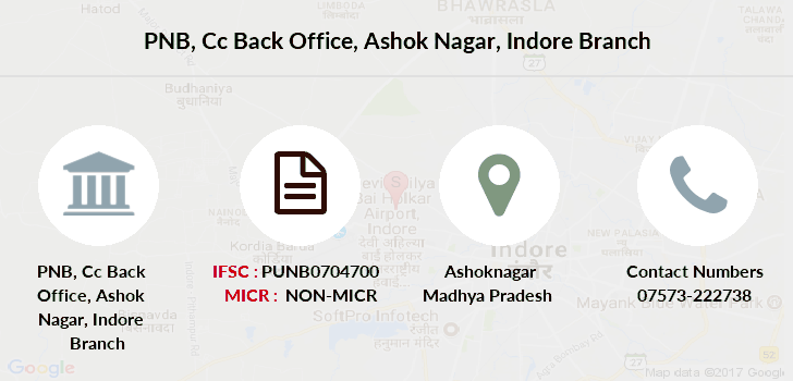 Punjab-national-bank Cc-back-office-ashok-nagar-indore branch