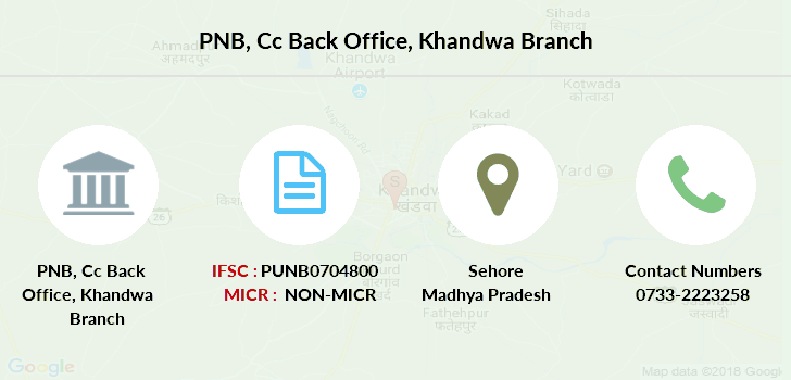 Punjab-national-bank Cc-back-office-khandwa branch
