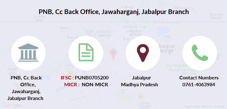 Punjab-national-bank Cc-back-office-jawaharganj-jabalpur branch