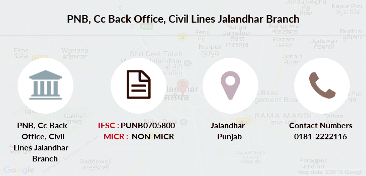 Punjab-national-bank Cc-back-office-civil-lines-jalandhar branch