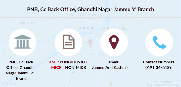 Punjab-national-bank Cc-back-office-ghandhi-nagar-jammu-c branch