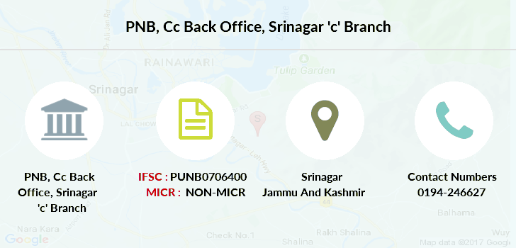 Punjab-national-bank Cc-back-office-srinagar-c branch