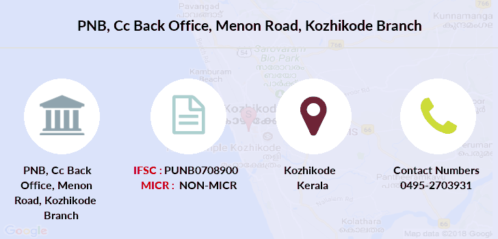Punjab-national-bank Cc-back-office-menon-road-kozhikode branch