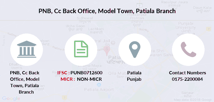 Punjab-national-bank Cc-back-office-model-town-patiala branch