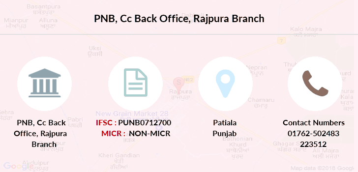 Punjab-national-bank Cc-back-office-rajpura branch
