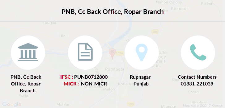Punjab-national-bank Cc-back-office-ropar branch