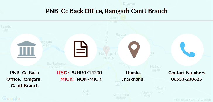 Punjab-national-bank Cc-back-office-ramgarh-cantt branch