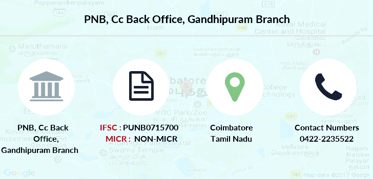 Punjab-national-bank Cc-back-office-gandhipuram branch