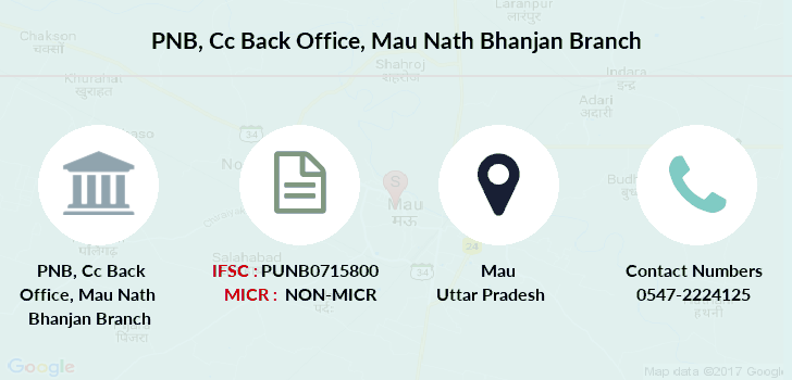 Punjab-national-bank Cc-back-office-mau-nath-bhanjan branch