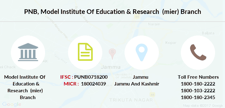 Punjab-national-bank Model-institute-of-education-research-mier branch