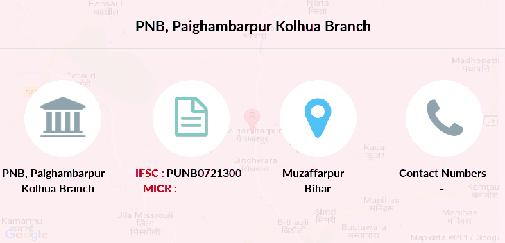 Punjab-national-bank Paighambarpur-kolhua branch