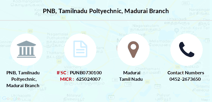 Punjab-national-bank Tamilnadu-poltyechnic-madurai branch