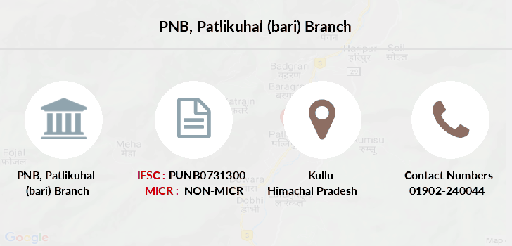 Punjab-national-bank Patlikuhal-bari branch