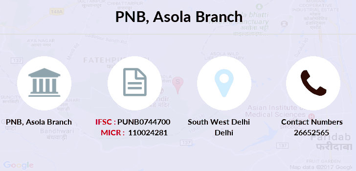 Punjab-national-bank Asola branch