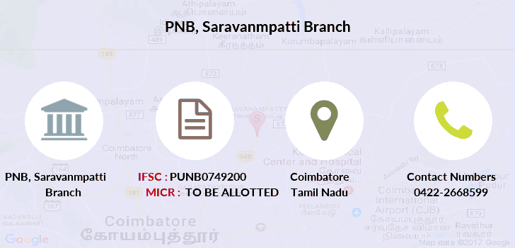 Punjab-national-bank Saravanmpatti branch