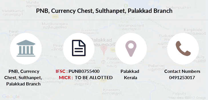 Punjab-national-bank Currency-chest-sulthanpet-palakkad branch
