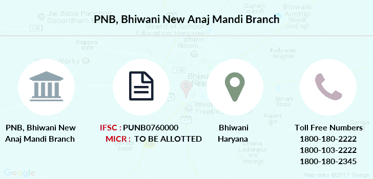 Punjab-national-bank Bhiwani-new-anaj-mandi branch