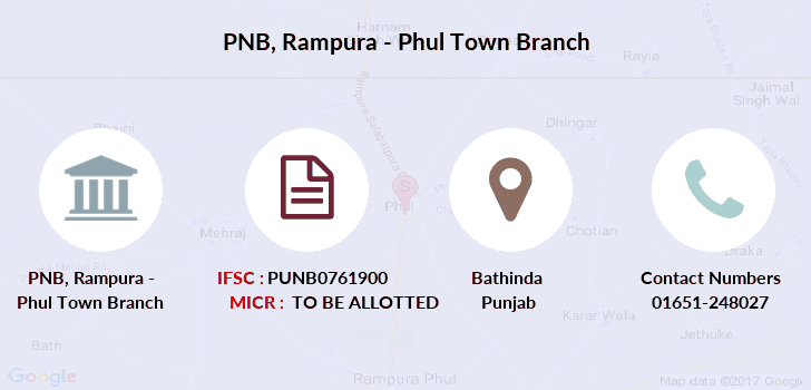 Punjab-national-bank Rampura-phul-town branch