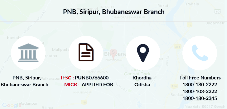 Punjab-national-bank Siripur-bhubaneswar branch