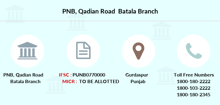 Punjab-national-bank Qadian-road-batala branch