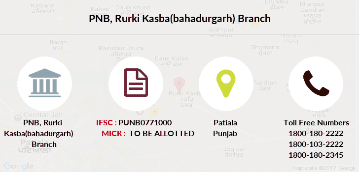 Punjab-national-bank Rurki-kasba-bahadurgarh branch