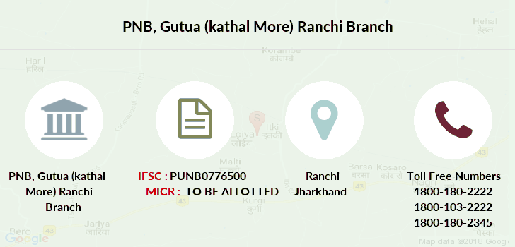 Punjab-national-bank Gutua-kathal-more-ranchi branch