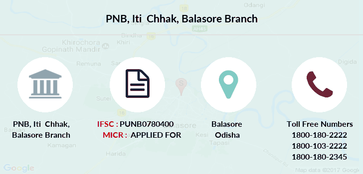 Punjab-national-bank Iti-chhak-balasore branch