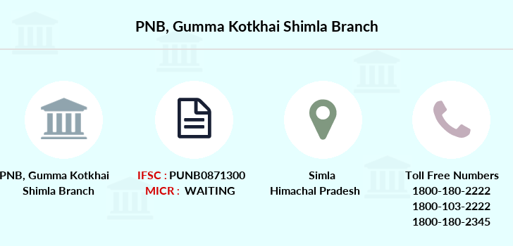 Punjab-national-bank Gumma-kotkhai-shimla branch