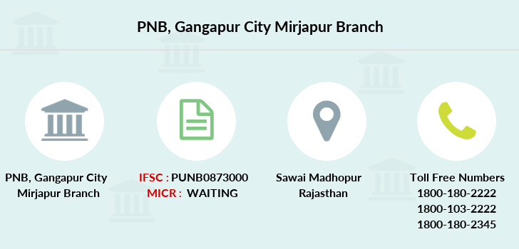 Punjab-national-bank Gangapur-city-mirjapur branch