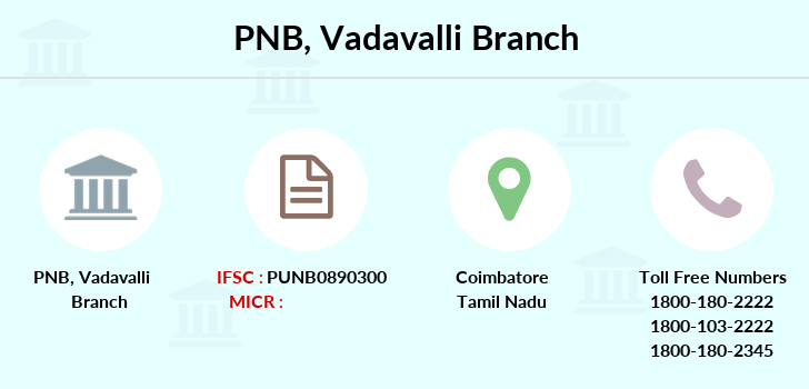 Punjab-national-bank Vadavalli branch