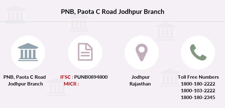 Punjab-national-bank Paota-c-road-jodhpur branch