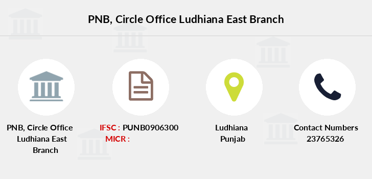 Punjab-national-bank Circle-office-ludhiana-east branch