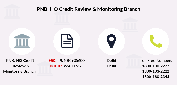 Punjab-national-bank Ho-credit-review-monitoring branch