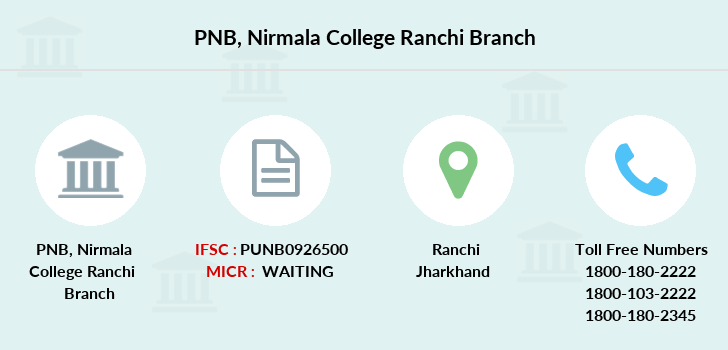 Punjab-national-bank Nirmala-college-ranchi branch