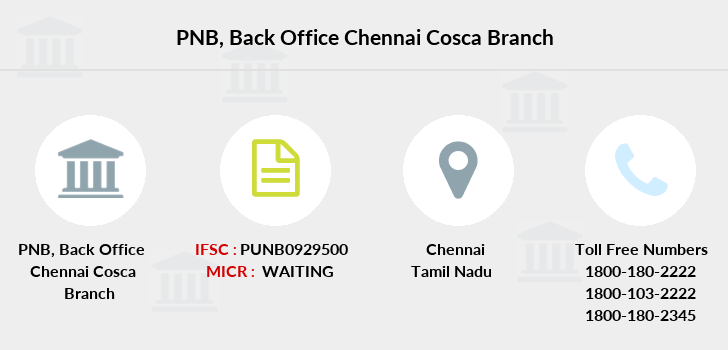 Punjab-national-bank Back-office-chennai-cosca branch